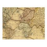 Mapa del mundo en la proyección de Mercators Postal