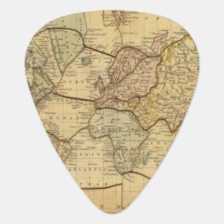 Mapa del mundo en la proyección de Mercators Púa De Guitarra