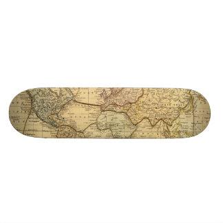 Mapa del mundo en la proyección de Mercators Skate Boards