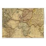 Mapa del mundo en la proyección de Mercators Tarjeta De Felicitación