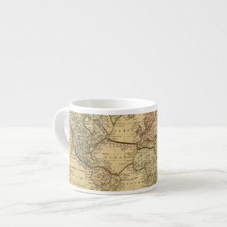 Mapa del mundo en la proyección de Mercators Taza Espresso