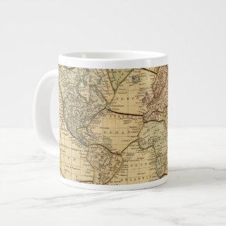 Mapa del mundo en la proyección de Mercators Taza Grande