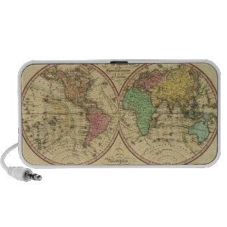Mapa del mundo en la proyección globular