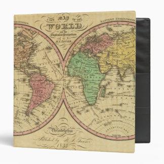"""Mapa del mundo en la proyección globular carpeta 1 1/2"""""""