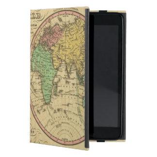 Mapa del mundo en la proyección globular iPad mini cárcasa