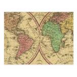 Mapa del mundo en la proyección globular postal