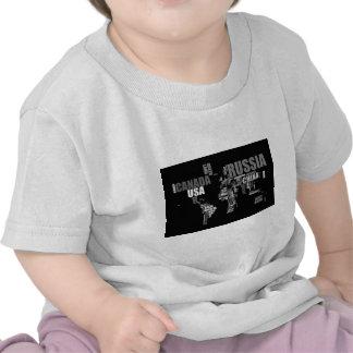 Mapa del mundo en palabras camiseta