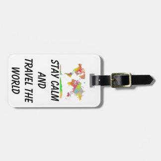 MAPA DEL MUNDO - etiqueta del equipaje Etiquetas Para Maletas