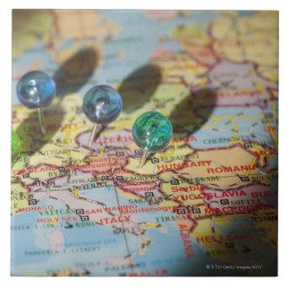 Mapa del mundo, Europa Azulejo Cuadrado Grande