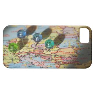 Mapa del mundo, Europa iPhone 5 Carcasa