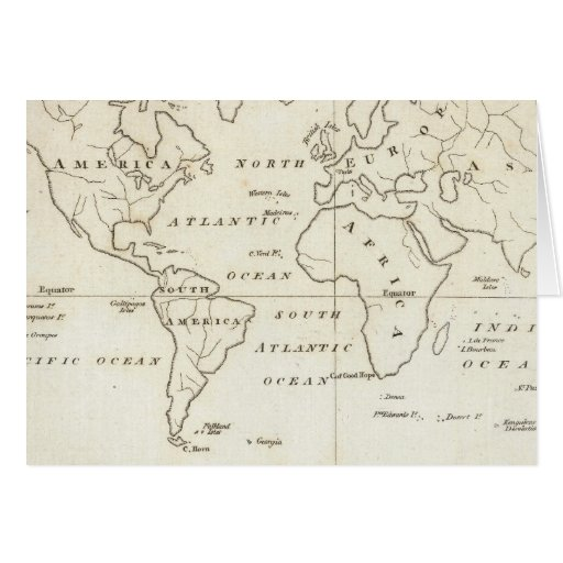 Mapa del mundo felicitación