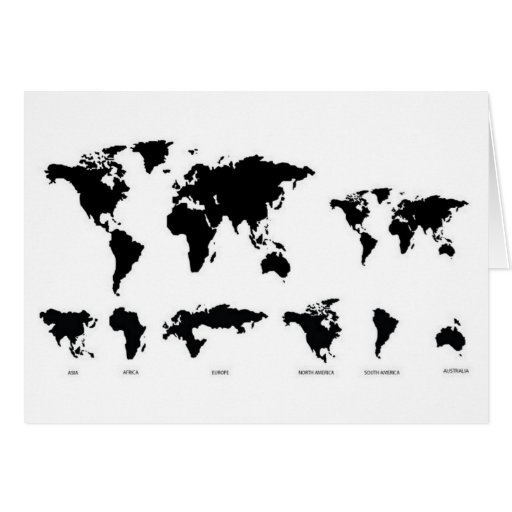 Mapa del mundo felicitacion