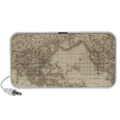 Mapa del mundo físico portátil altavoz