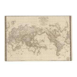 Mapa del mundo físico tapete individual