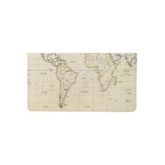 Mapa del mundo funda para chequera