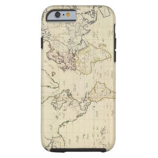 Mapa del mundo funda resistente iPhone 6