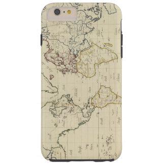 Mapa del mundo funda resistente iPhone 6 plus
