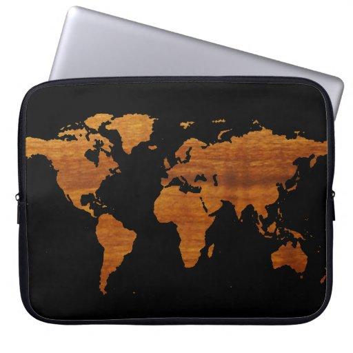 mapa del mundo fundas portátiles