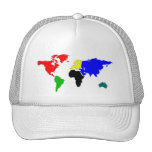 Mapa del mundo gorros bordados