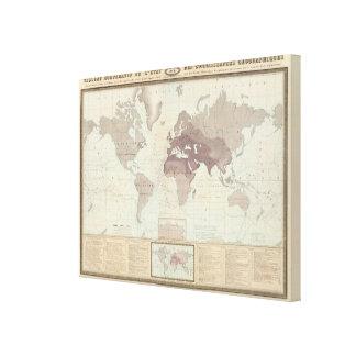 Mapa del mundo histórico 2 lona envuelta para galerias