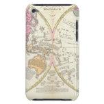 Mapa del mundo histórico 3 iPod touch Case-Mate cárcasas