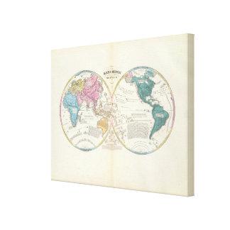 Mapa del mundo histórico impresiones de lienzo