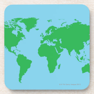 Mapa del mundo ilustrado posavasos