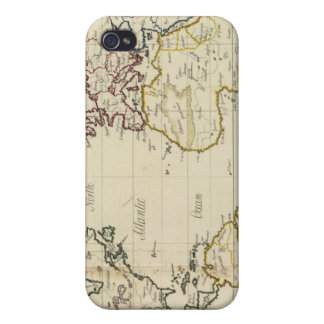 Mapa del mundo iPhone 4 carcasas