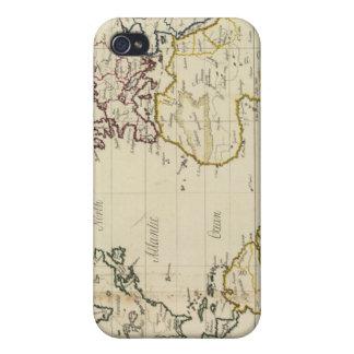 Mapa del mundo iPhone 4 fundas