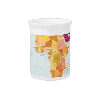 Mapa del mundo jarras de beber