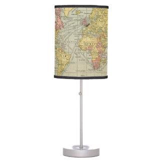 Mapa del mundo lámpara de mesilla de noche