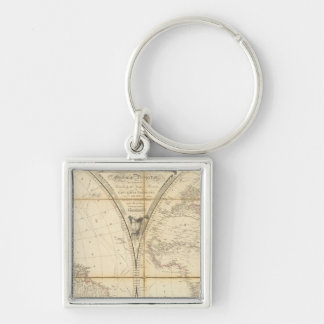 Mapa del mundo llavero personalizado