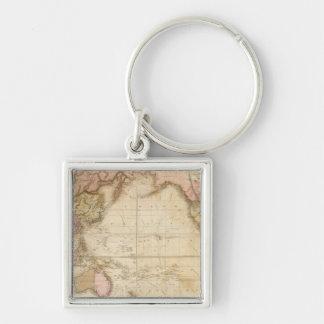 Mapa del mundo llaveros personalizados