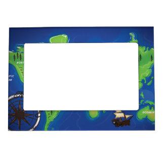 Mapa del mundo marcos magnéticos para fotos