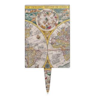Mapa del mundo medieval a partir de 1525 decoración de tarta