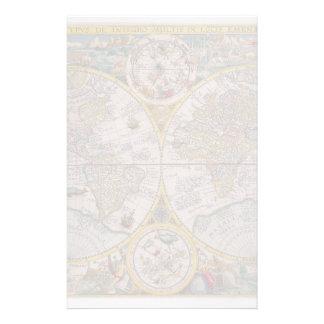 Mapa del mundo medieval a partir de 1525 personalized stationery