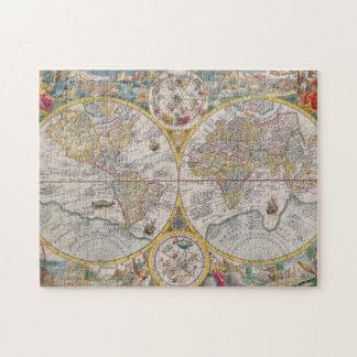 Mapa del mundo medieval a partir de 1525 puzzle