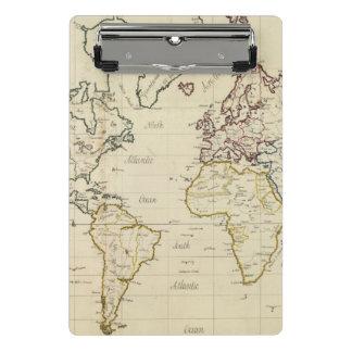 Mapa del mundo minicarpeta de pinza