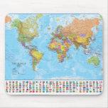 Mapa del mundo Mousepad/Mousemat Tapetes De Ratones