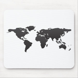 Mapa del mundo mousepads