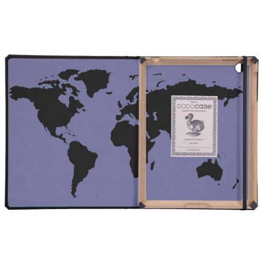 mapa del mundo negro iPad coberturas