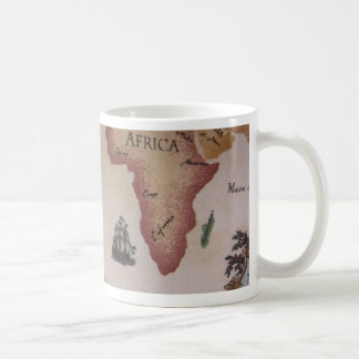 Mapa del mundo -- Océano Atlántico Tazas De Café