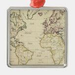 Mapa del mundo ornamentos de reyes magos
