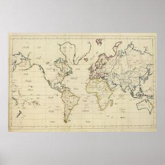 Mapa del mundo posters