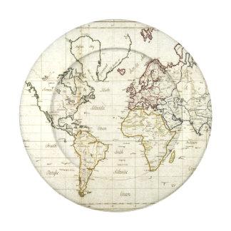 Mapa del mundo paquete pequeño de tapa botones