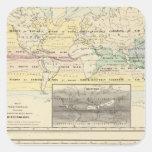 Mapa del mundo calcomanías cuadradass personalizadas