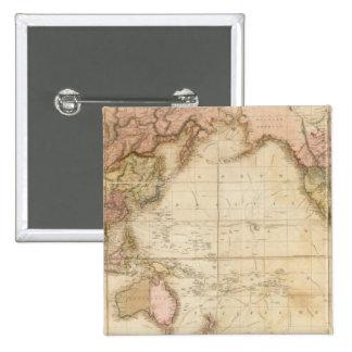 Mapa del mundo pin cuadrada 5 cm