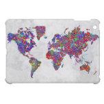 Mapa del mundo, pintura de la acción iPad mini cárcasa