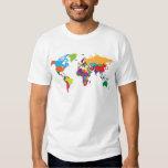 Mapa del mundo playeras