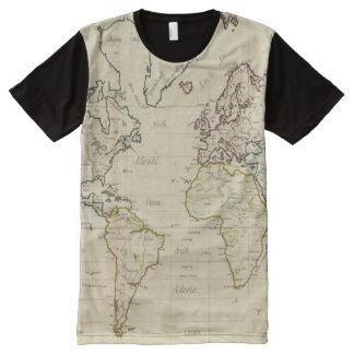 Mapa del mundo playeras con estampado integral